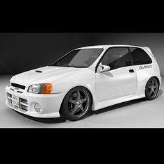 Toyota Starlet GlanzaV Model available on Turbo Squid, the world's leading provider of digital models for visualization, films, television, and games. Old Classic Cars, Classic Sports Cars, Toyota Hilux, Toyota Corolla, Mitsubishi Wagon, Corolla Twincam, Toyota Starlet, Gt Turbo, Toyota Fj Cruiser