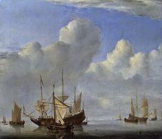 Dutch Master Paintings: Dutch Ship Coming to Anchor