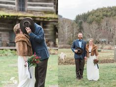 Photos by Revival Photography, Vintage Inspired Winter Elopement on New Year's Eve at The Mast Farm Inn | www.revivalphotography.com