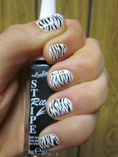 Zebra Nails! First time trying