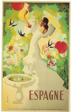 Spanish pre-civil war tourism poster by Joseph Morell Macías  #vintage #travel #poster #Spain