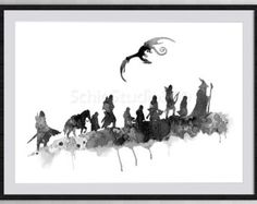 """lord of the rings minimalist – Etsy Top Dragon, Middle company, bottom """"little by little, one travels far"""""""