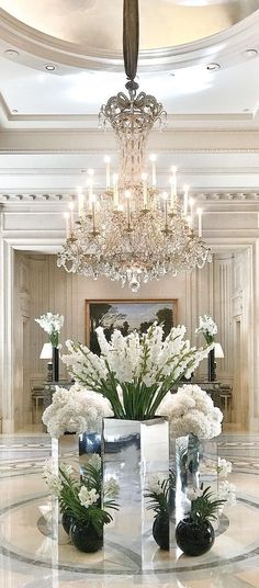 Pin by home interior decor on interior decor ideas luxury chandelier, luxur Luxury Interior, Interior And Exterior, Luxury Decor, Luxury Chandelier, Chandeliers, Grand Entrance, Entrance Ideas, Entryway Ideas, House Entrance