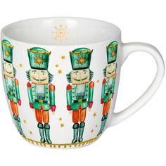 Porzellan-Tasse Nußknacker Es ist so weit, Weihnachtszeit!