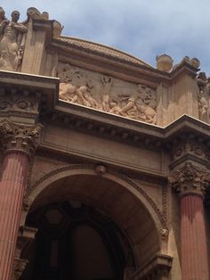 This was originally supposed to be a temporary structure. The palace of fine arts!