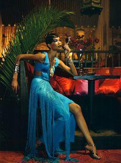 Vogue Italia's All Black February Spread: The Black Allure