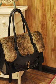 fur bag.