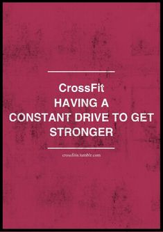 CrossFit #stronger  #motivation #inspiration #fitspo  #running #workout #exercise #strength#crossfit #quotes #fitness #crossfitgirls - www.girlsworkhard...
