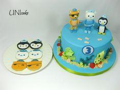 C68. Oktonautit –kakku ja –piparit. Octonauts cake and cookies.