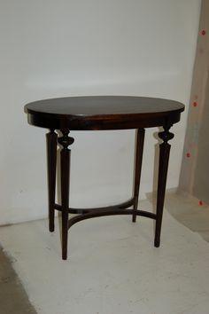 Refinished and ebonized side table