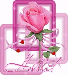 Gifs messages Fleurs Page 10 Hello Pictures, Hello Quotes, Happy New Year Gif, Glitter Gif, Desi, Hello Welcome, Glitter Graphics, Everything Pink, Happy Anniversary