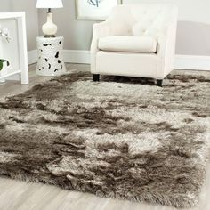 paris shag sable 8 ft 6 in x 12 ft area rug - Fluffy Rugs