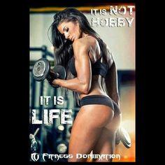 It's not a hobby, it's life! #fitnessdomination #teamfd #dominate #fit #fitness #fitlife #fitlifestyle #lifestyle #dedication #motivation #inspiration #glutes #legs