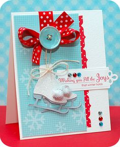 "cards made with cricut joys of the season | Joys that Winter Holds "" supplies:"