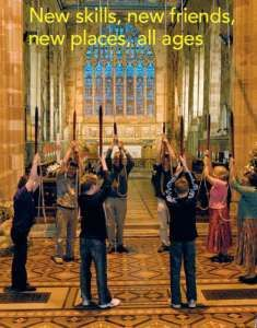 Learn to be a bell ringer!  Ringers at Ashbourne, Derbyshire, UK.