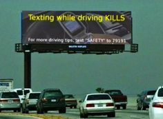 I don't think this 'don't text while driving' ad campaign was really thought through.