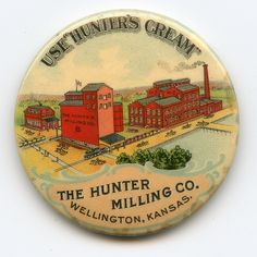 Hunters Cream Milling Co Celluloid Advertising Pocket Mirror Wellington Kansas   eBay