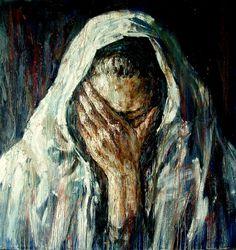 Mourning 145х140 cm, oil on canvas, 2012 Anatoly Shumkin