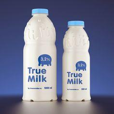True Milk by Pavel Gubin, via Behance