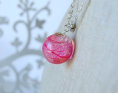 resin pendant with skeleton leaf by suasideas on Etsy