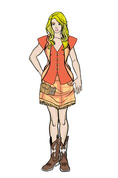 An idea of the main charackter - Faith, who travels to a parallel world and lands in the past.