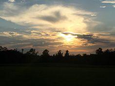 Sunset at  Cross Iron Cottage