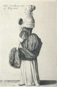 Women's Fashions of the 17th Century: Drawing 30 - Noble Gentlewoman of England