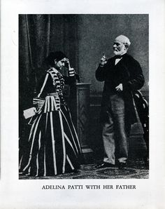 An undated portrait of Adelina Patti, opera singer and tenant of the House of Genius, with her father.