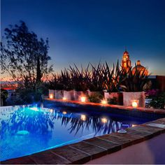pool terrace at San Miguel de Allende