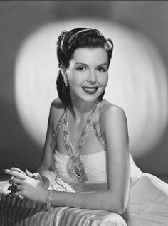 Ann Miller 1948    Star of many musicals - known for her fast tap-dancing ability.