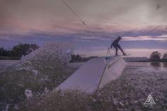 Winter wakeboarding Wakeland lake Italy