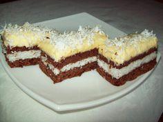 "Prajitura ""pasiune in doi"" Romanian Desserts, Romanian Food, Croatian Recipes, Kakao, Homemade Cakes, Desert Recipes, Cookie Recipes, Sweet Treats, Deserts"