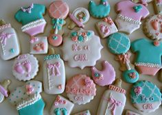 Beautiful baby shower cookies by Flour-De-Lis                                                                                                                                                                                 More