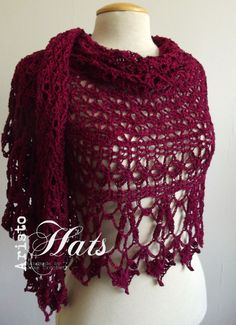 Piquant Shawl Red