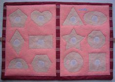 Forma geometrica puzzle feltro morbido libro libro educativo