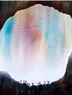 Michelle Blade, Entrance, 2014. Acrylic on canvas, 60 x 46 inches. | via The Jealous Curator