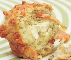 Savoury Salmon & Dill Muffins Recipe from Claire Ptak and Henry Dimbleby's Leon cookbook Savory Cupcakes, Savory Muffins, Baking Muffins, Savory Breakfast, Breakfast Muffins, Mini Muffins, Salmon Breakfast, Cheese Muffins, Breakfast Potatoes