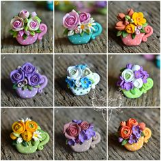 Polymer clay spring broches by Zubiju <3 Brose martisor :)