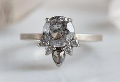 Vintage engagement rings 485825878554688299 - Galaxy Sunburst Diamond Engagement Ring – Alexis Russell Source by cchalotte Classic Engagement Rings, Platinum Engagement Rings, Beautiful Engagement Rings, Engagement Ring Settings, Halo Engagement, Grey Diamond Engagement Ring, Beautiful Rings, Diamond Rings, Diamond Jewelry