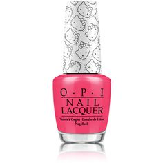 OPI x Hello Kitty Nail Lacquer in Spoken From the Heart ❤ liked on Polyvore featuring nails, nail polish and pink