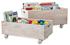 Serena  Lilly rolling crates for stylish toy storage