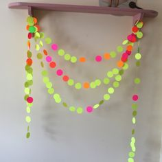 Neon Yellow Lemonade, Extra Extra Long Paper Garland, party decoration. $8.00, via Etsy.