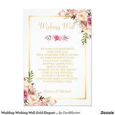 Wedding Wishing Well Gold Elegant Chic Floral