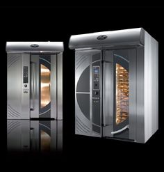 Techno - Rotating rack ovens for bakery, design by Cesar Arroyo for Mondial Forni (2008)