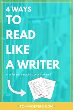 Every book you read is a chance to learn valuable writing lessons. Make the most of each experience by learning the 4 steps you need to read like a writer. Click to find out these steps now!