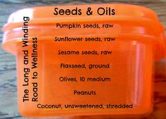 Orange Container: Seeds & Oils #21DayFix (<1/4 Cup)                                                                                                                                                     More