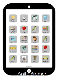 iClass Daily Schedule {by Anita Bremer} visual tech savvy kids can relate to for daily schedule.