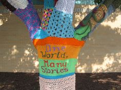 awwww! Love it! We've Been Yarn Bombed! | mymcpl.org - Mid-Continent Public Library