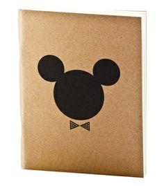 APPA DELIGHT Simple Notebook Mickey Minnie - Black