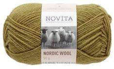 Novita Nordic Wool Lanka Villasekoite 50 g, sammal 337 50th, Villa, Wool